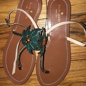 Kate spade palm tree sandals 9.5